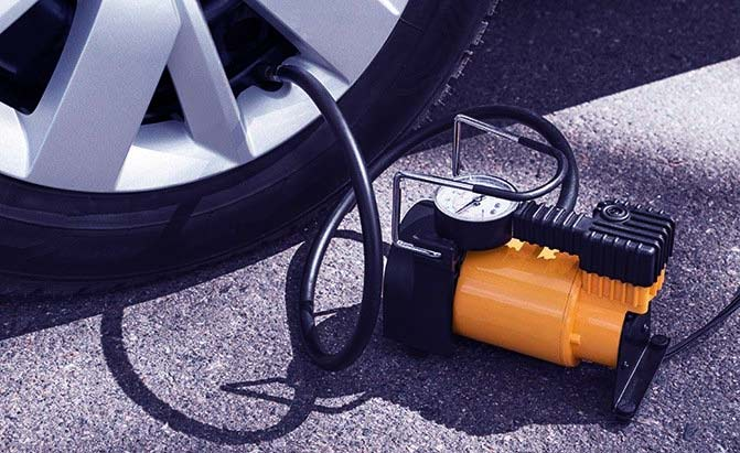 portable compressor for car